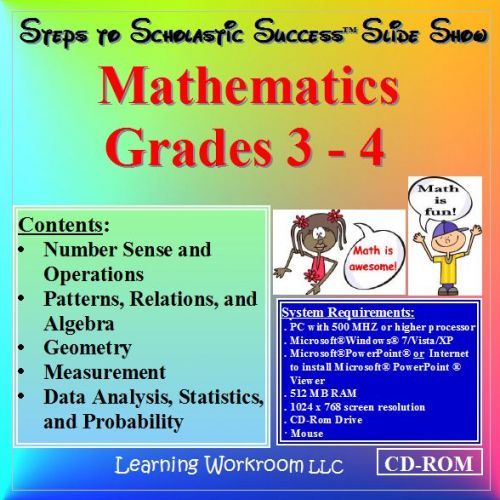 Steps to Scholastic Success Slide Show - Mathematics, Grades 3 - 4