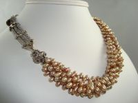 Multi-Strand Pearl and Silver Necklace