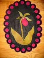 Pink Lady Slipper: Wall Hanging or Table Mat