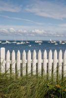 White Picket Fence against the Deep Blue Sea| Limited Edition